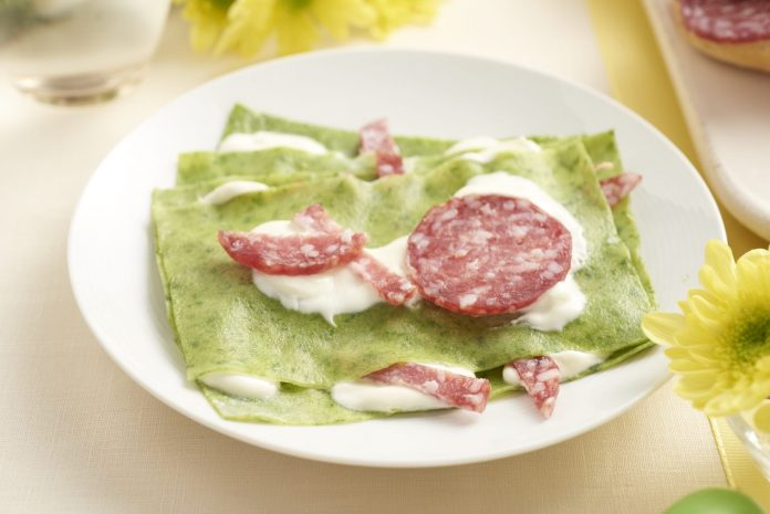 Lasagne di pasta verde